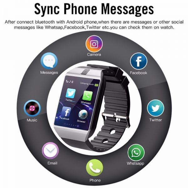 Bluetooth Smart Watch DZ09 Phone With Camera Sim TF Card Android SmartWatch Phone Call Bracelet Watch for Android Smart phone 2