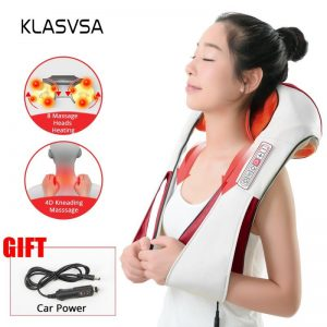 DR. CHARLES Heated Shiatsu Neck Massager w/ Infrared Kneading 1