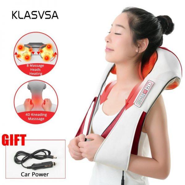 DR. CHARLES Heated Shiatsu Neck Massager w/ Infrared Kneading 1