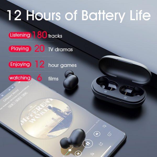 JAIR Wireless Fingerprint Touch Earbuds  3