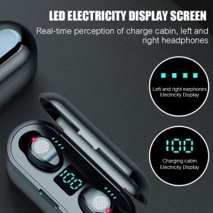 ZION Wireless Earbuds with Touch Control and LED Screen 2