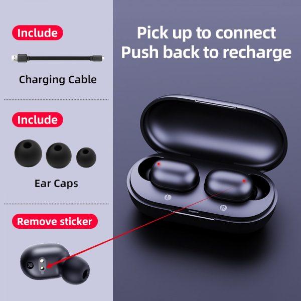 JAIR Wireless Fingerprint Touch Earbuds  5