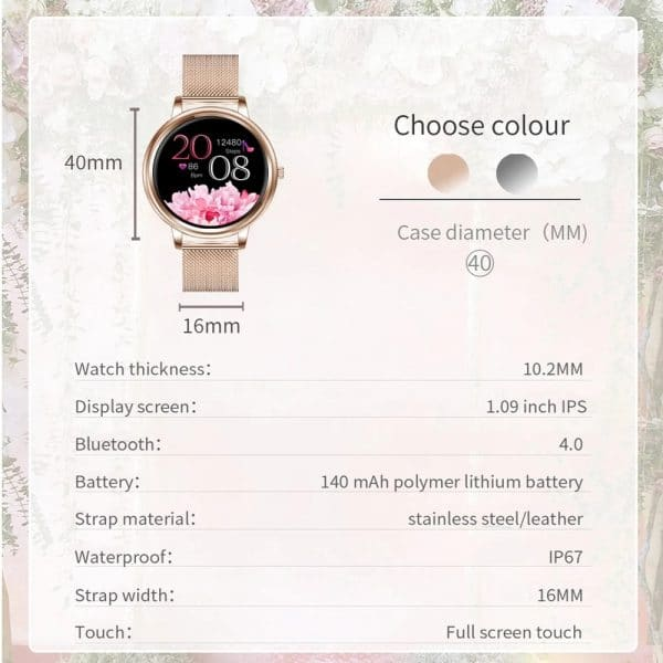 Anita 2021 Women's Full Touchscreen Sport Smartwatch For IOS & Android 4